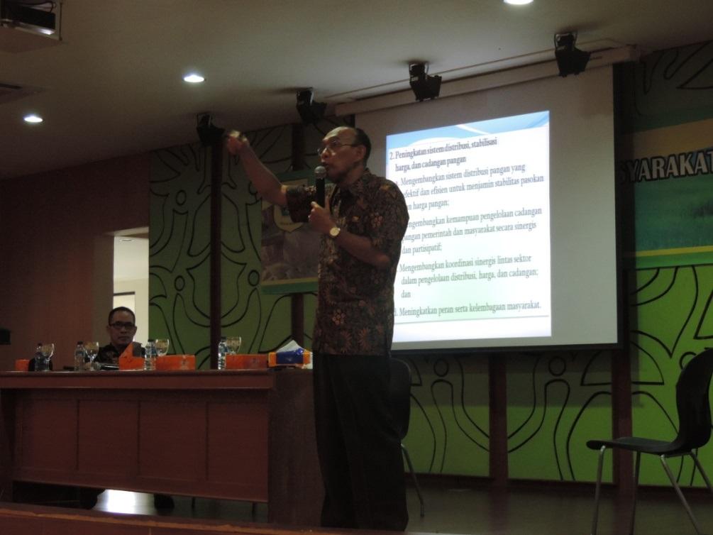 Kepala Dinas Ketahanan Pangan dalam Pemberian Materi Bimtek Manajemen LPM 2017