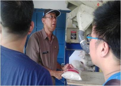 Peninjauan Gapoktan Supplier Beras di Tanjung Sari