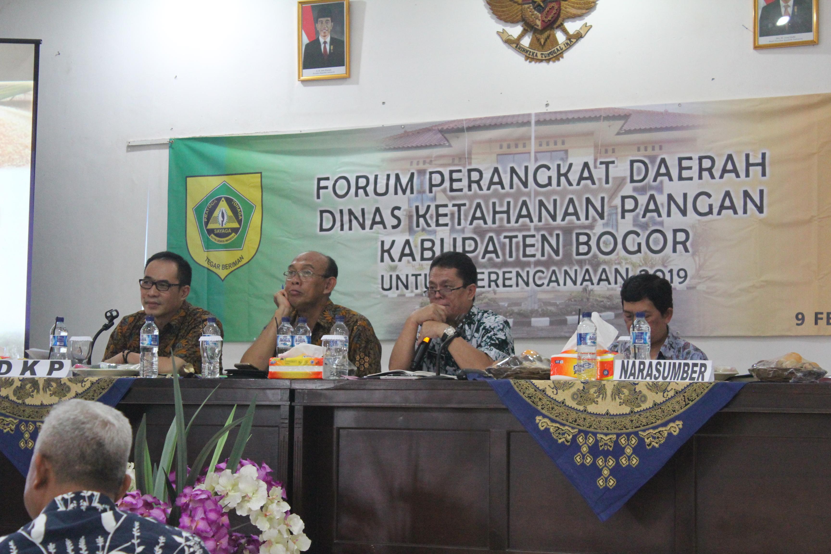 Forum Perangkat Daerah Dinas Ketahanan Pangan Kab. Bogor tanggal 09 Februari 2018