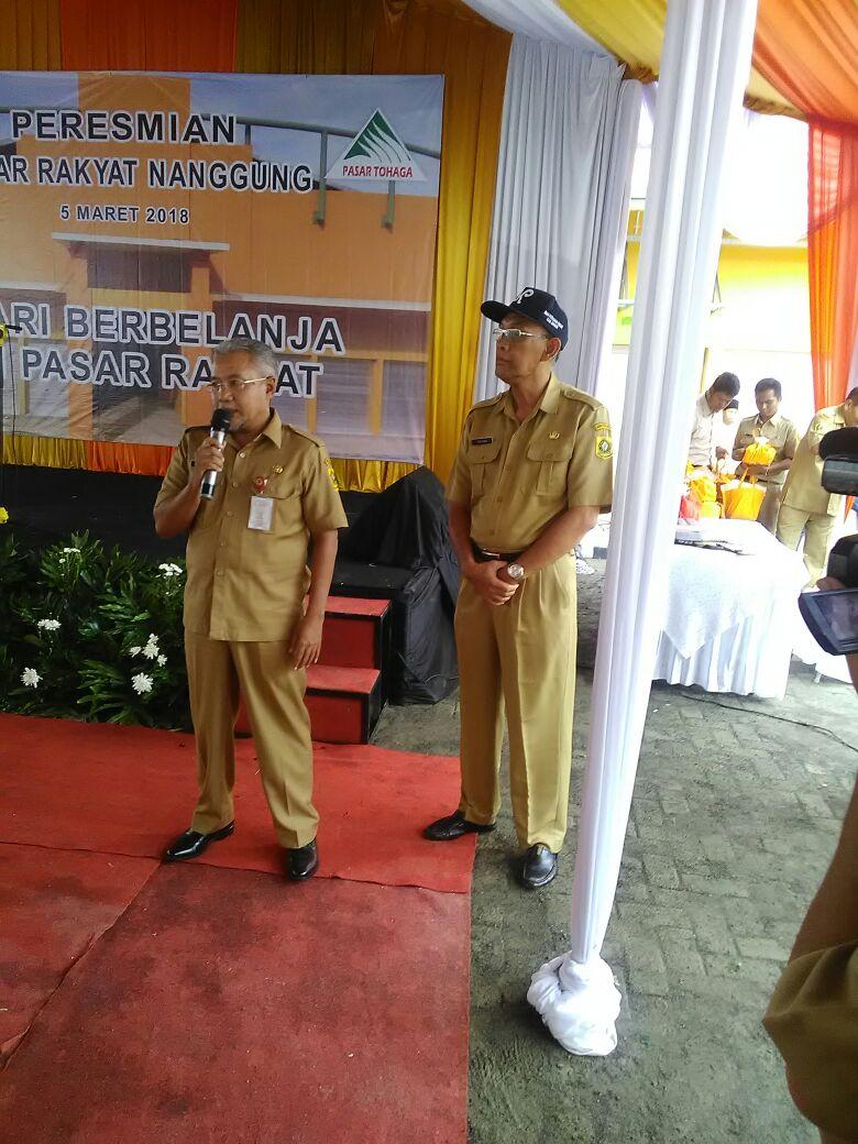 Peresmian Pasar Rakyat Nanggung yang dihadiri oleh Sekretaris Daerah dan Kepala Dinas Ketahanan Pangan Kab. Bogor
