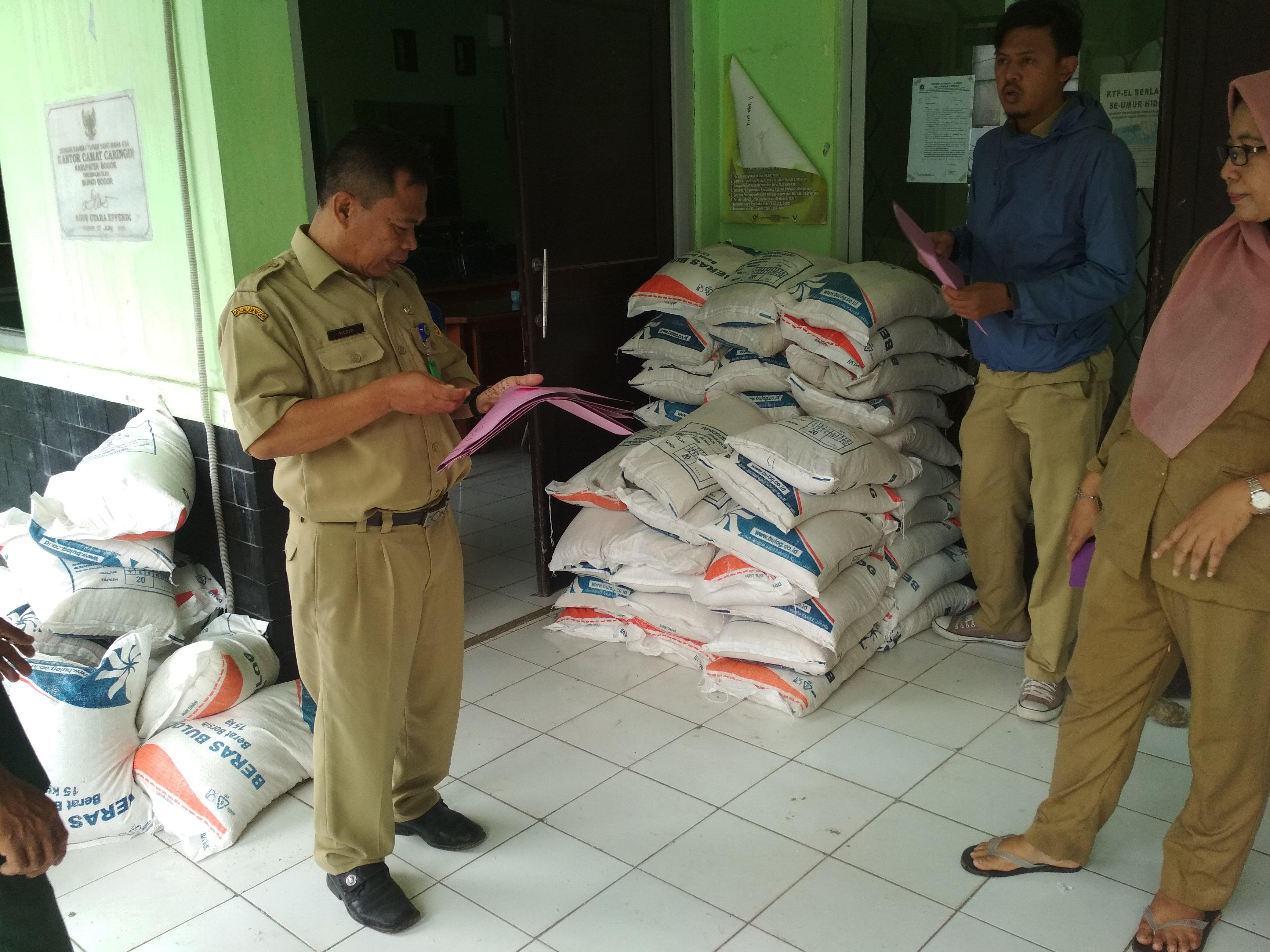 Bantuan CPPD untuk bencana gempa bumi di Kecamatan Caringin pada Maret 2018
