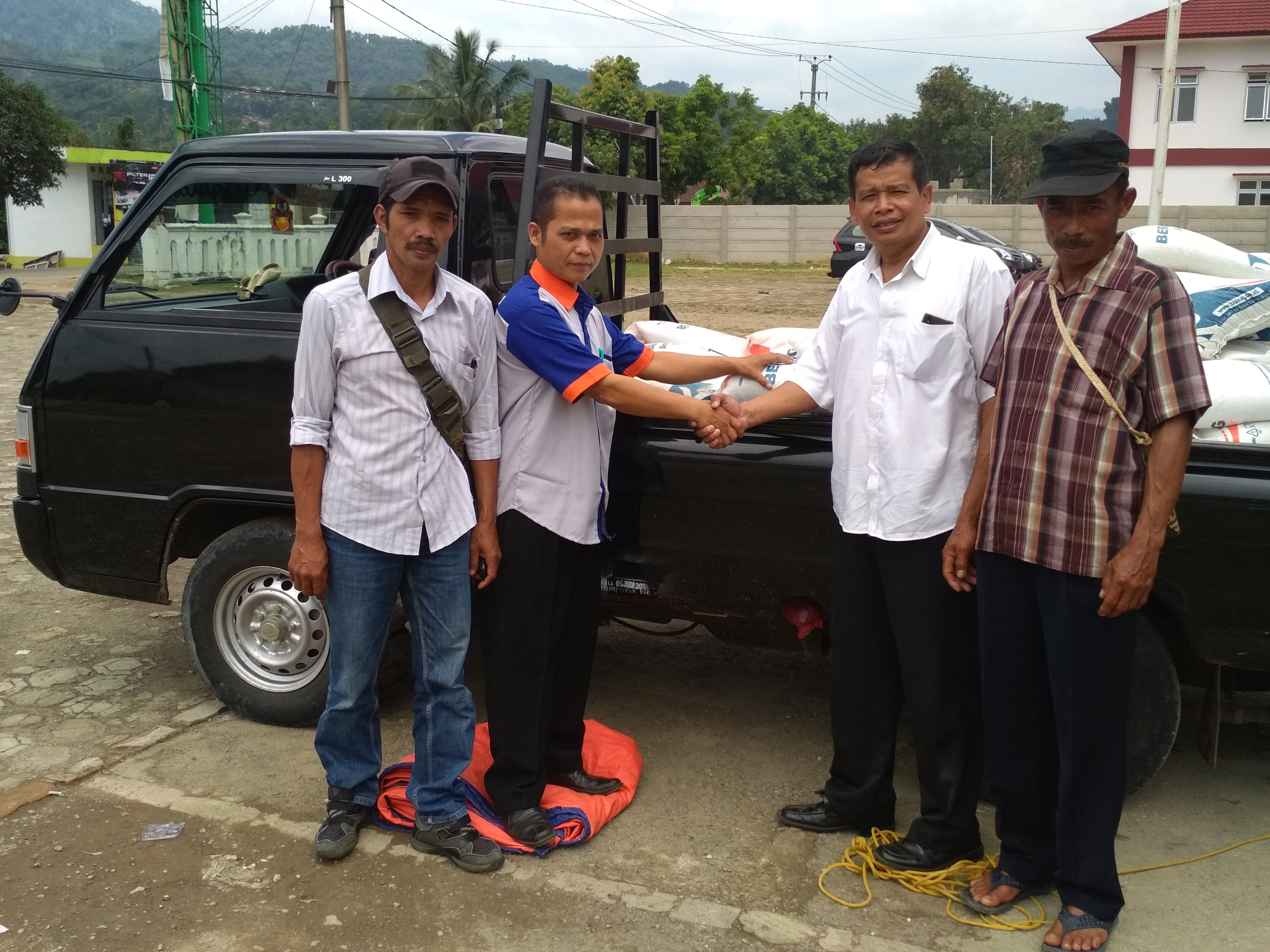 Penyerahan Bantuan CPPD untuk Korban Bencana Alam Kecamatan Nanggung Kab.Bogor pada Maret 2018