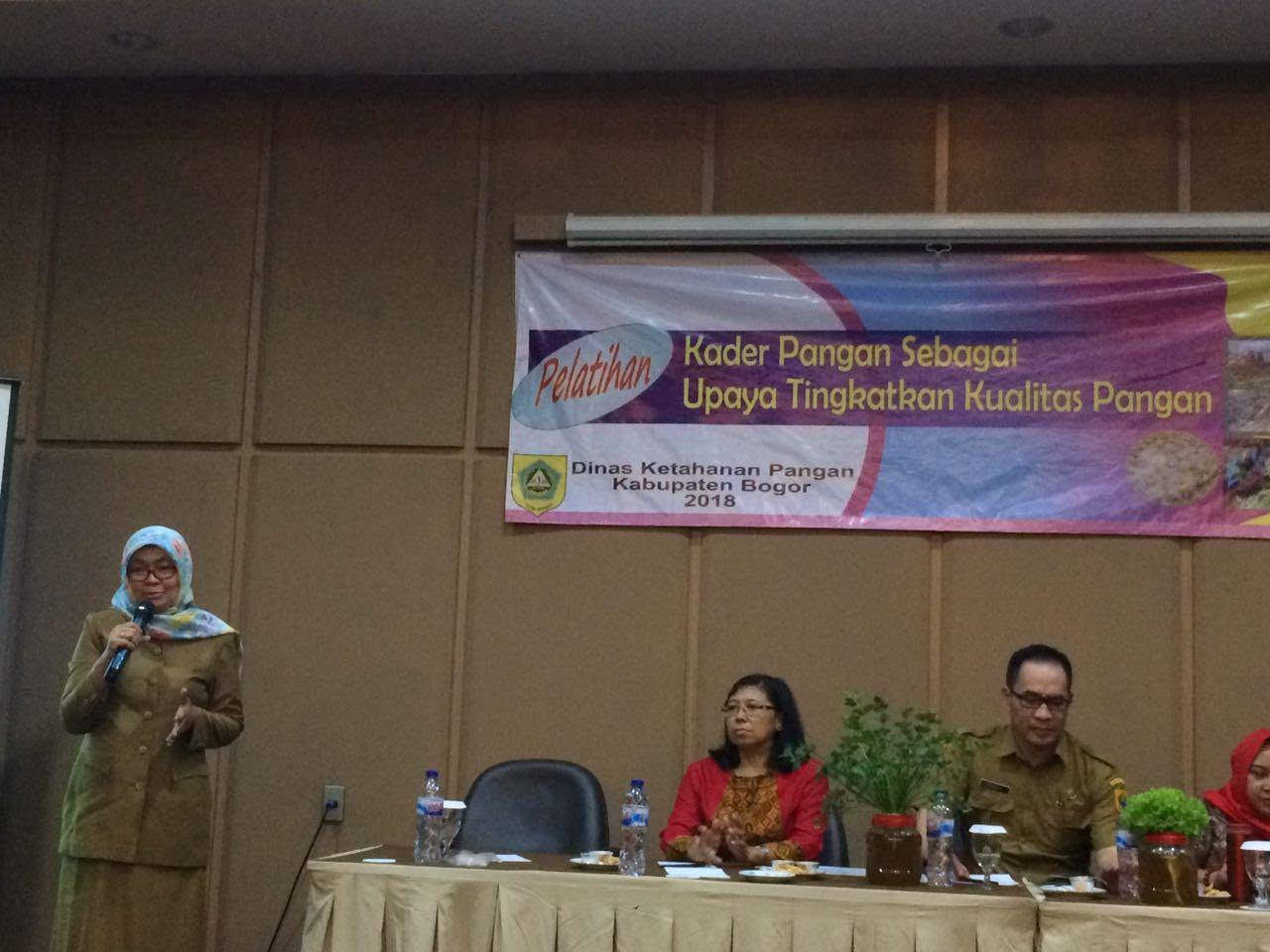 Kegiatan Pelatihan Kader Pangan Sebagai Upaya Tingkatkan Kualitas Pangan di Kab.Bogor