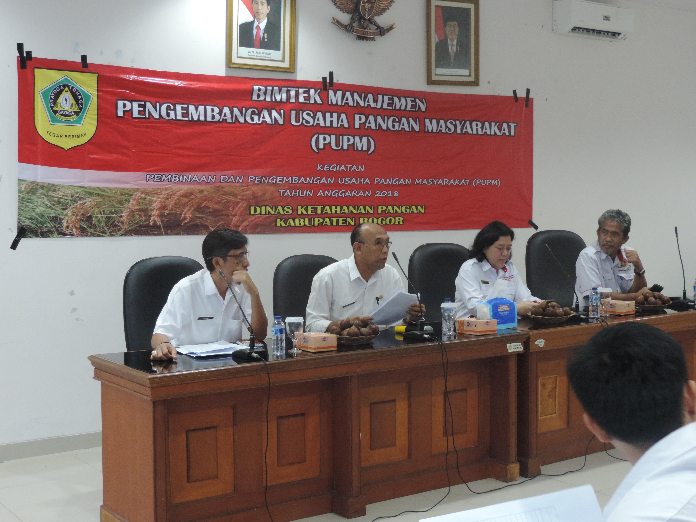 DKP Kab. Bogor mengadakan kegiatan Bimtek Manajemen PUPM Tahun 2018