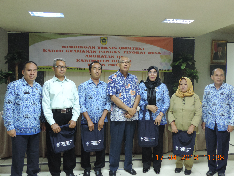 DKP Kab. Bogor menyelenggarakan Bimbingan Teknis Kader Keamanan Pangan Desa